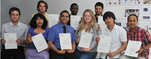 ResCon2009 committee with certificates