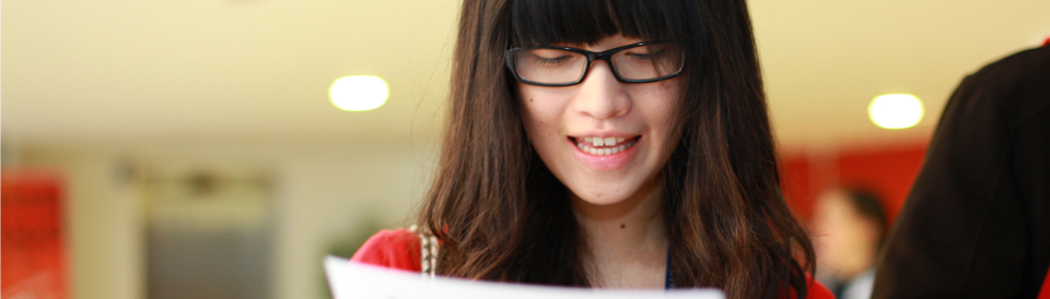 student with glasses