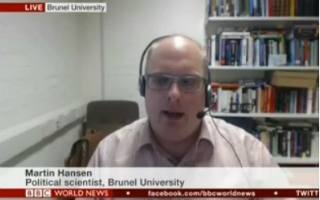 Brunel's Dr Martin Hansen was interviewed about the shock rise of the Danish People's Party
