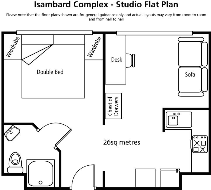 Isambard Studio Flats Brunel University London