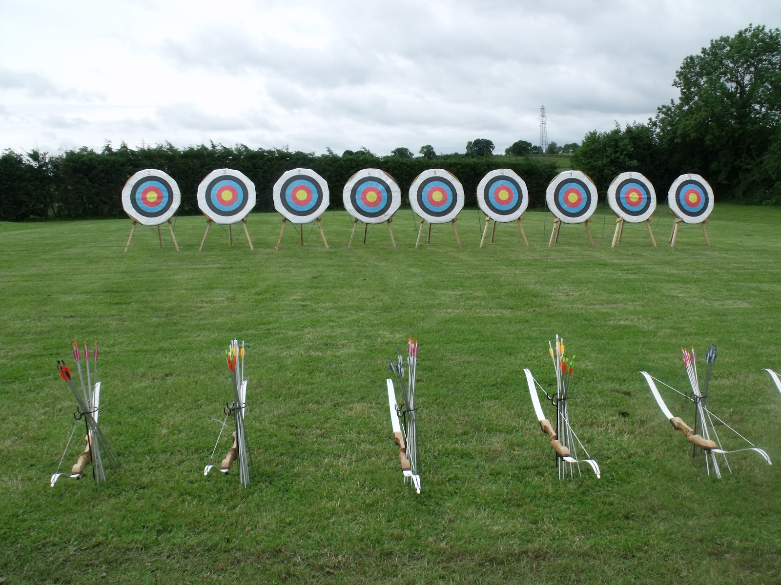 Olympic archery field