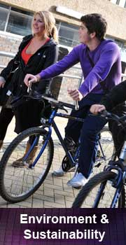 A student cycling