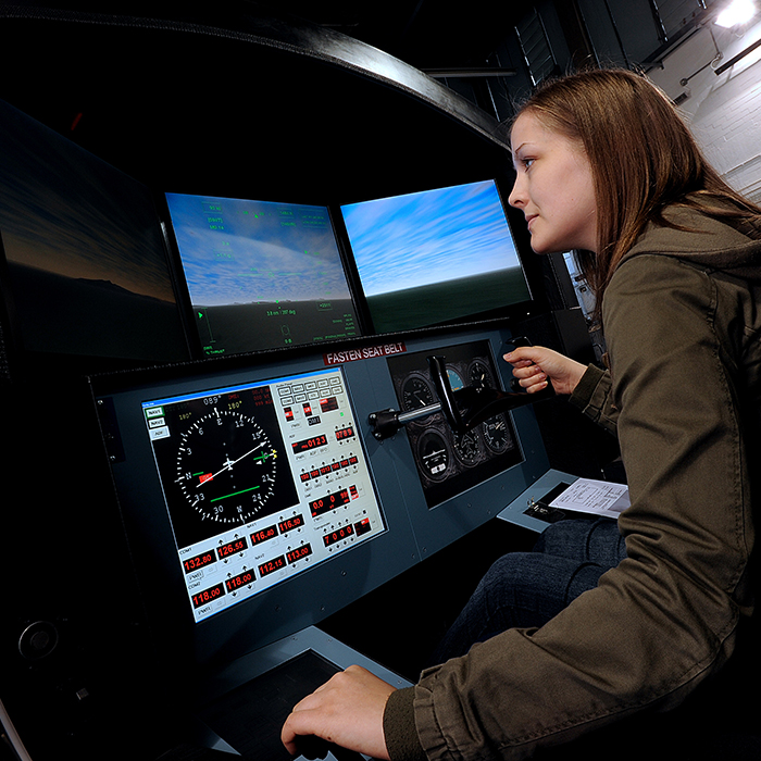 Flight simulator at Brunel University