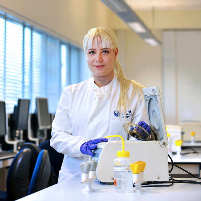 portrait of female biomedical sciences student 1