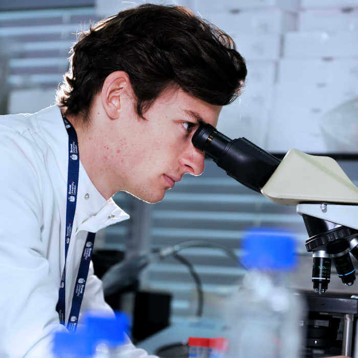 portrait of male biomedical sciences researcher