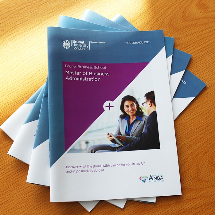 Brunel-Business-School-MBA-Brochures-fanned-out-on-table