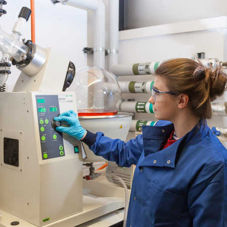 Chemical engineering student on work placement