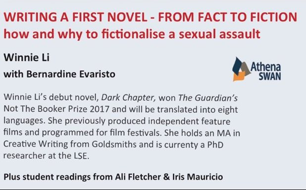 image of Writing a first novel from fact to fiction - how and why to fictionalise a sexual assualt