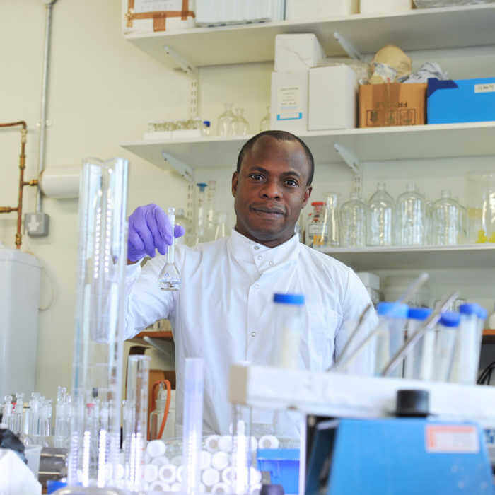 Environmental Sciences researcher in a laboratory at Brunel University London