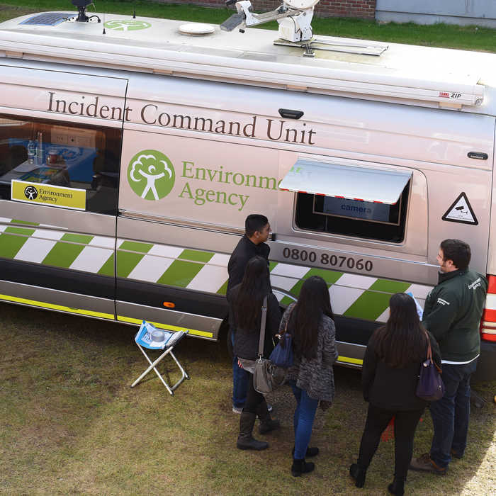 Environment Agency Incident Command Unit on Brunel campus