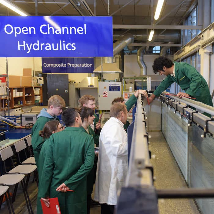 Hydraulic facilities at HR Wallingford which are used by students on Brunel's Flood and Coastal courses
