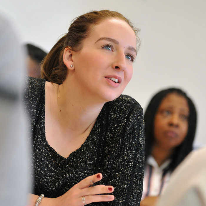 A visitor asks why studying Global Challenges is beneficial at an Open day