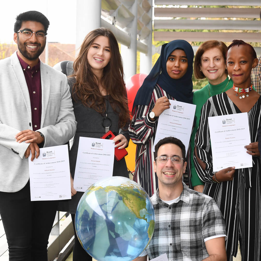 Language centre-students with certificates 2