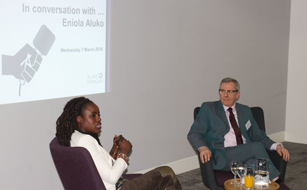 image of Brunel graduate Eniola Aluko inspires at alumni event