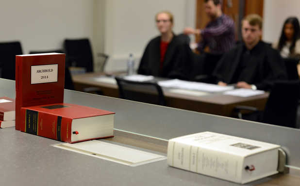 image of Mock trial on a military scale