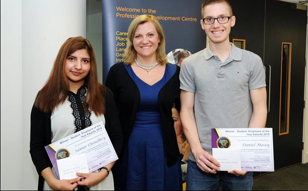 image of Law students awarded Commercial Impact award at SEOTY award ceremony