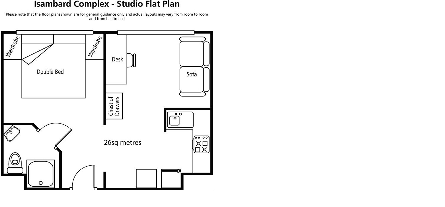 studio bedroom plan