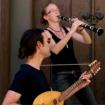 image of Klezmer and Balkan Music Duo: Susi Evans, clarinet & Matt Bacon, guitar
