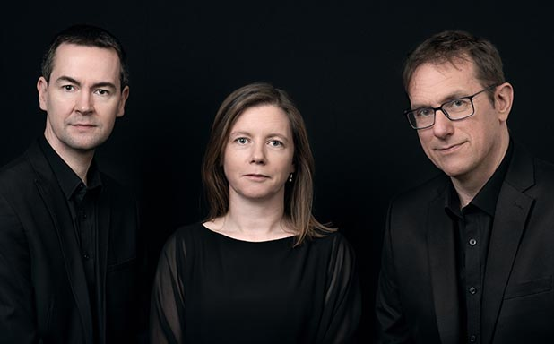 image of Fidelio Trio. Darragh Morgan, Tim Gill and Mary Dullea