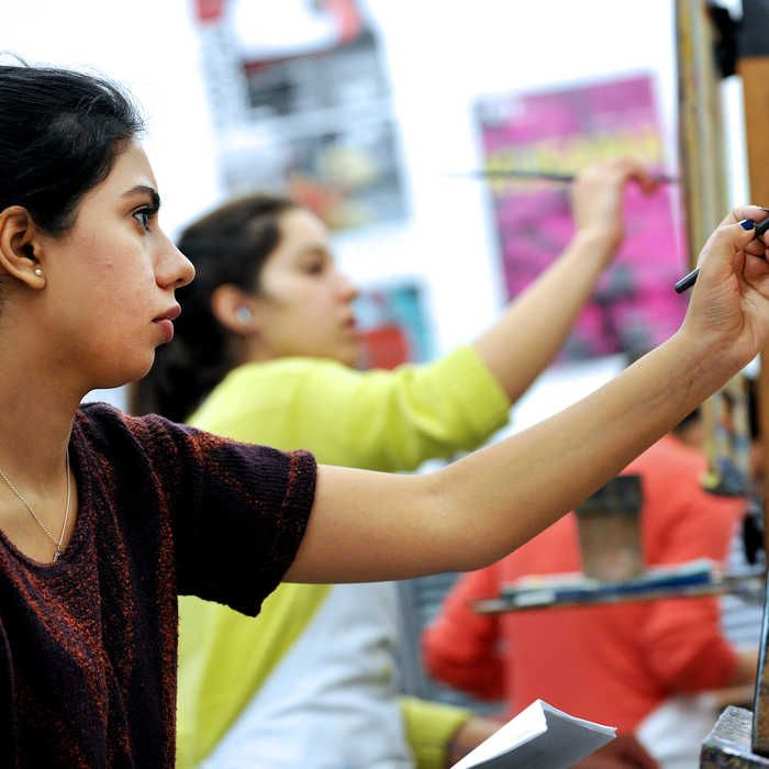 Main image students painting