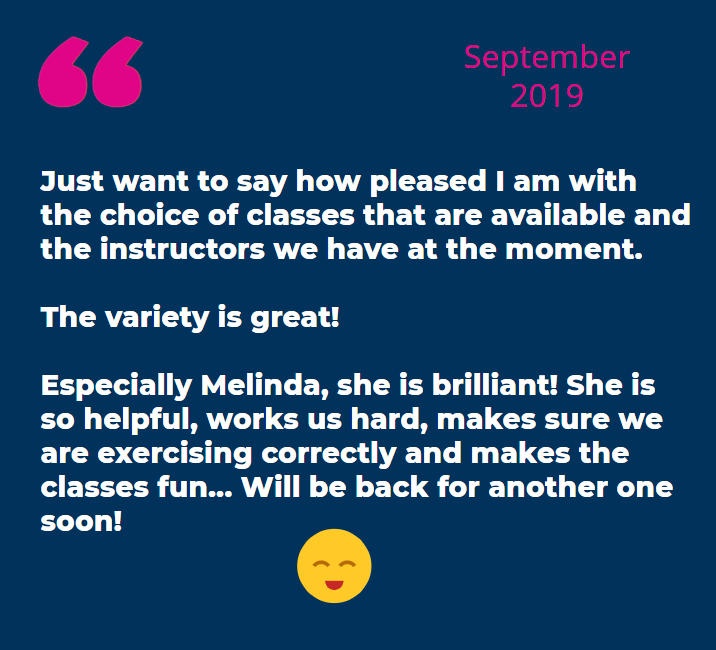 September feedback Pam