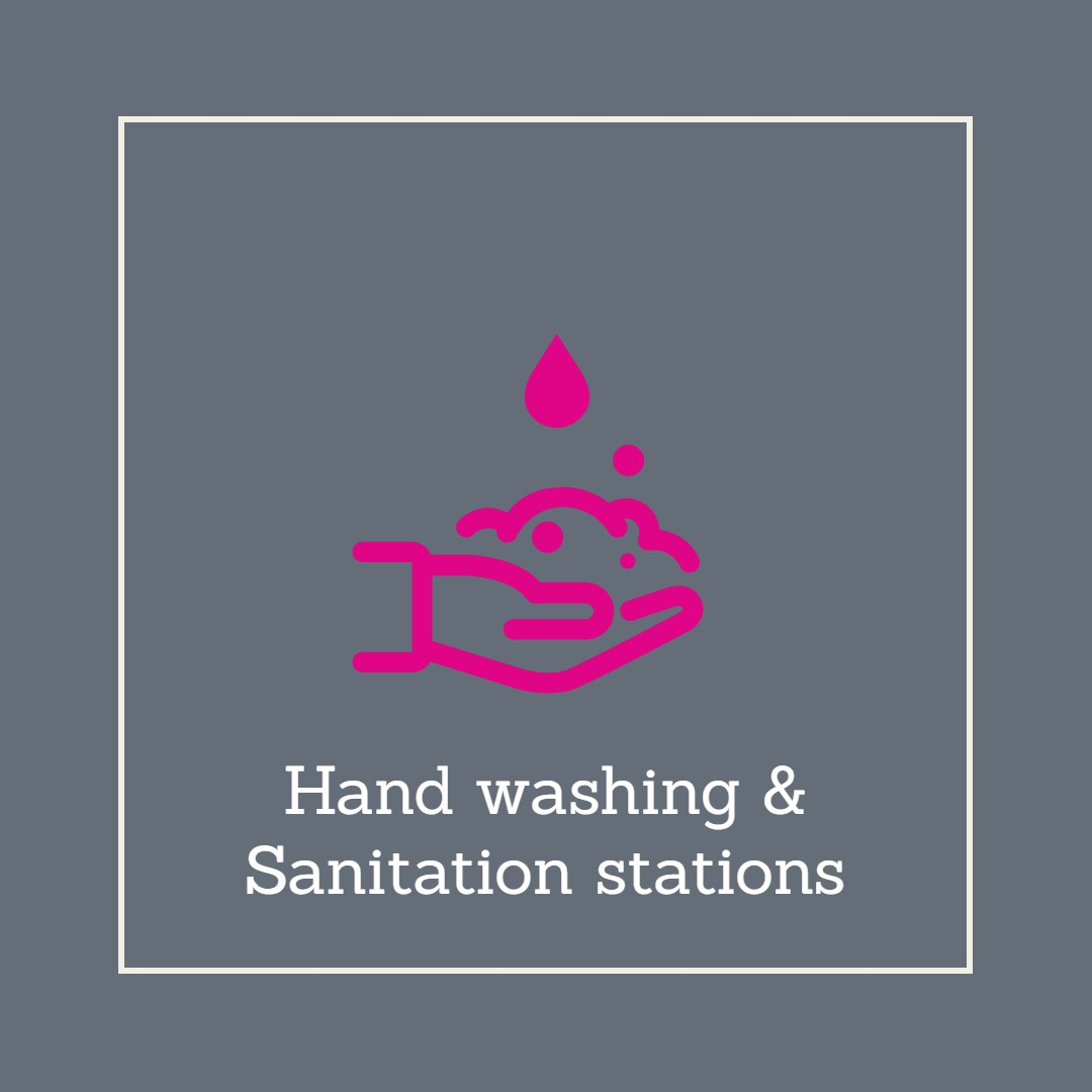 Sanitise stations