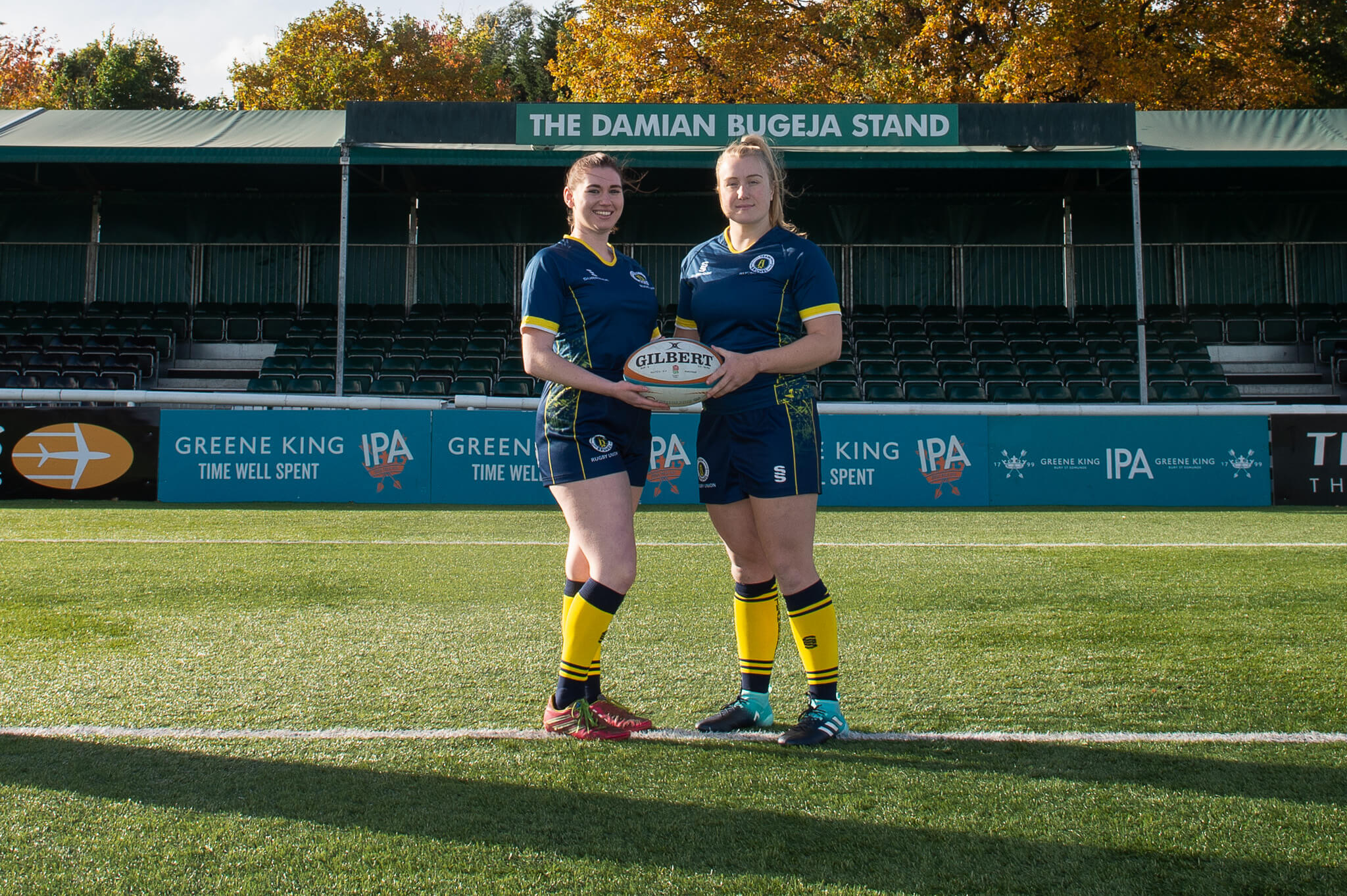 female Brunel rugby players in the Ealing Trailfinders rugby club
