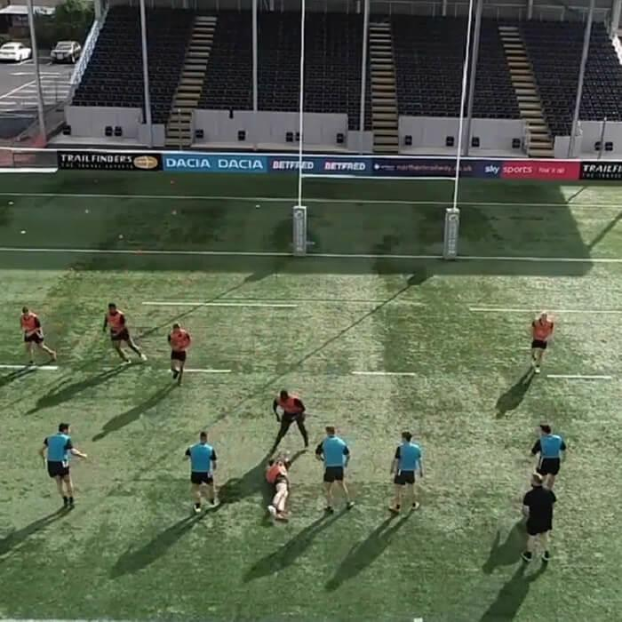 Academy rugby session at Ealing Trailfinders