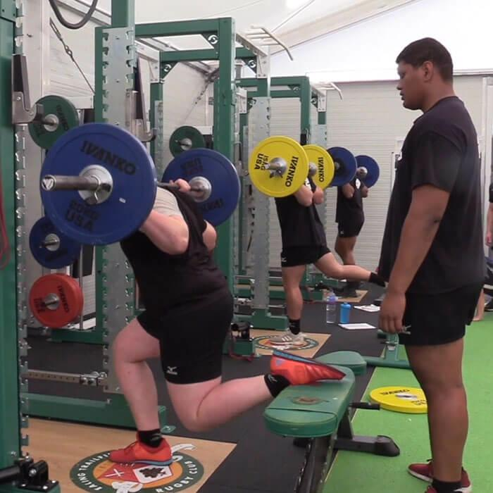 Gym session at Ealing Trailfinders