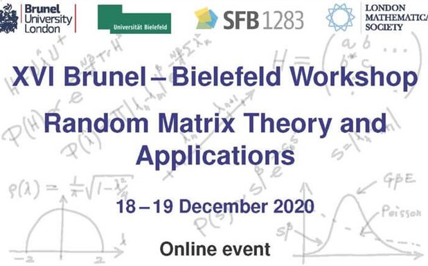 image of 16th Brunel-Bielefeld Workshop on Random Matrix Theory and Applications