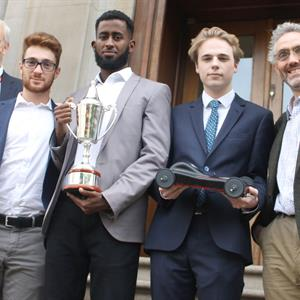 image of Three Grand Champions! Three Mechanical Engineering students became the Grand Champions of the 2017 Year 2 IMechE National Design Challenge