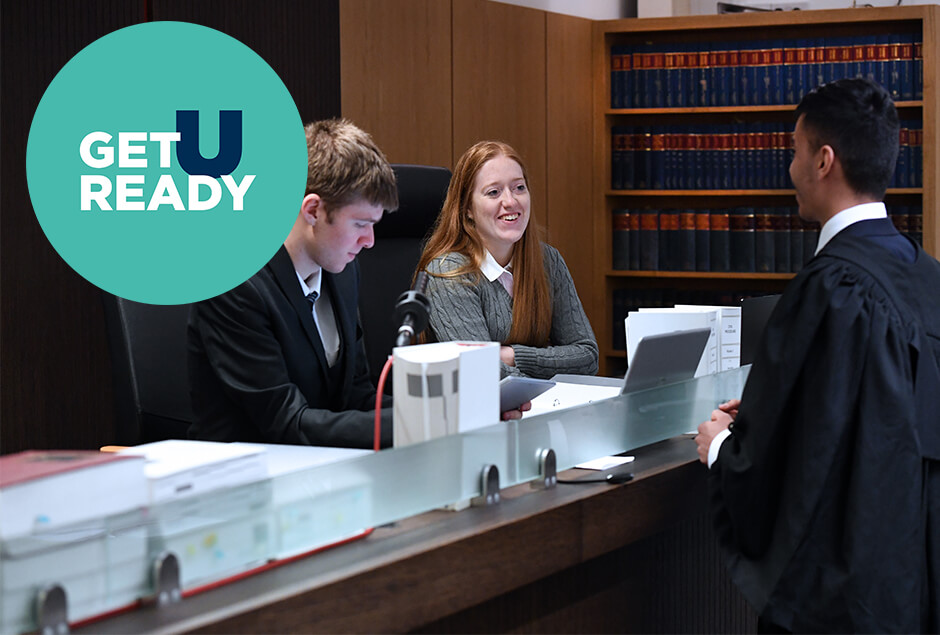 GUR - Brunel students during a law moot court