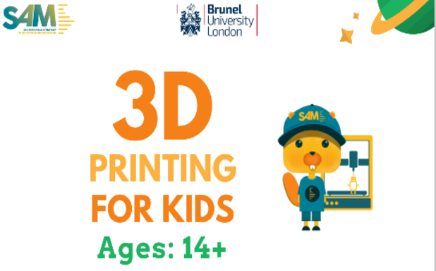 image of 3D Printing Tech4kids Webinar for School Children (Ages 14+)