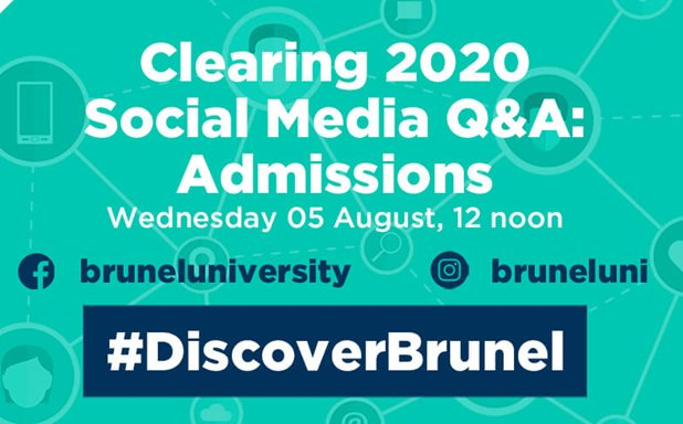 image of Clearing 2020 Social Media Q&A: Admissions