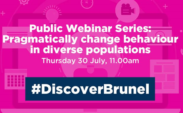 image of Public Webinar Series: Pragmatically change behaviour in diverse populations