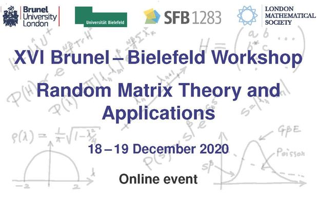 image of XVI Brunel-Bielefeld Workshop on RMT and Applications
