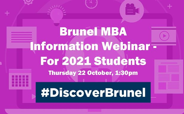 image of MBA Information Webinar in October - For January 2021 Students