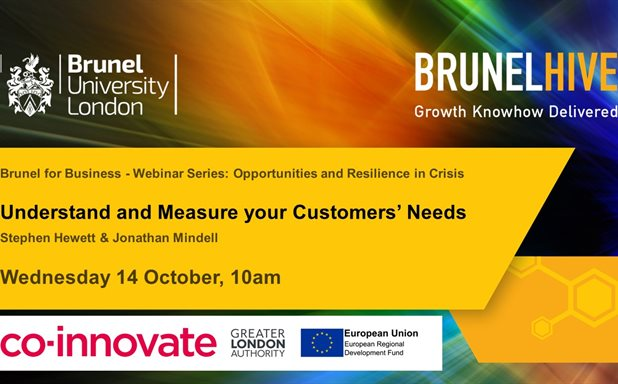 image of Brunel for Business: Why it's time to understand & measure your customers' needs