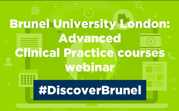 image of Advanced Clinical Practice Webinar