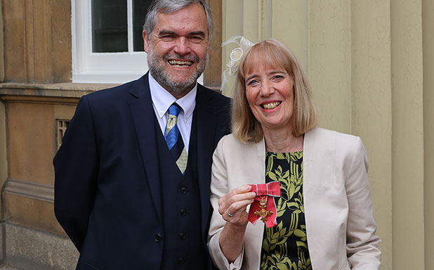 image of OBE from Charles for former Brunel psychologist