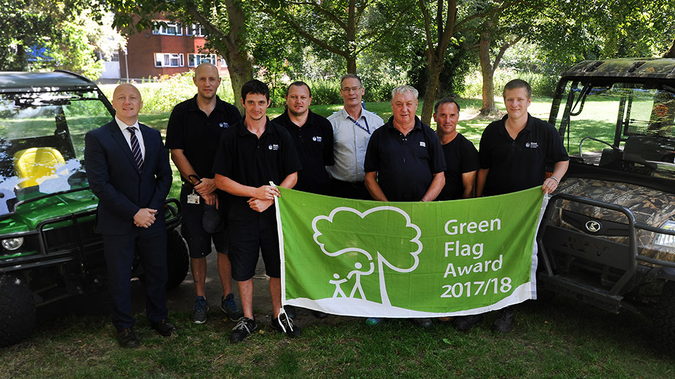 Parks fly the flag for cleanliness and safety