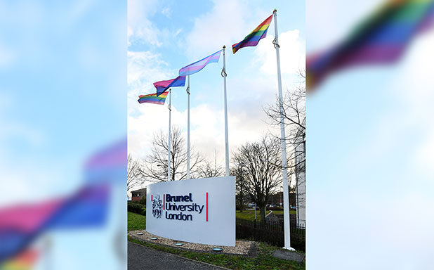 image of Flag-raising ceremony heralds LGBT History Month