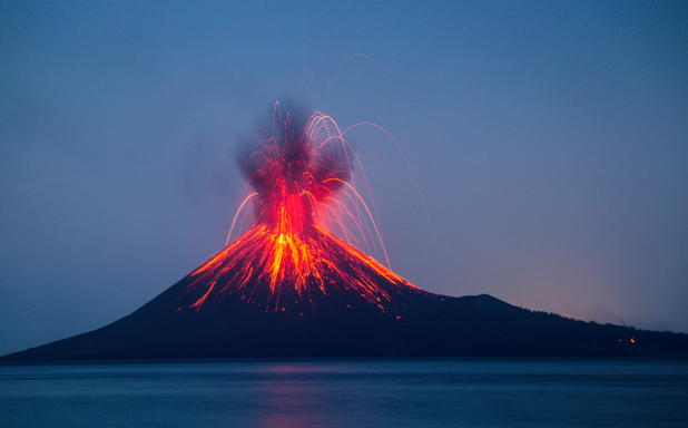 image of Tsunami unleashed by Anak Krakatoa eruption was at least 100m high