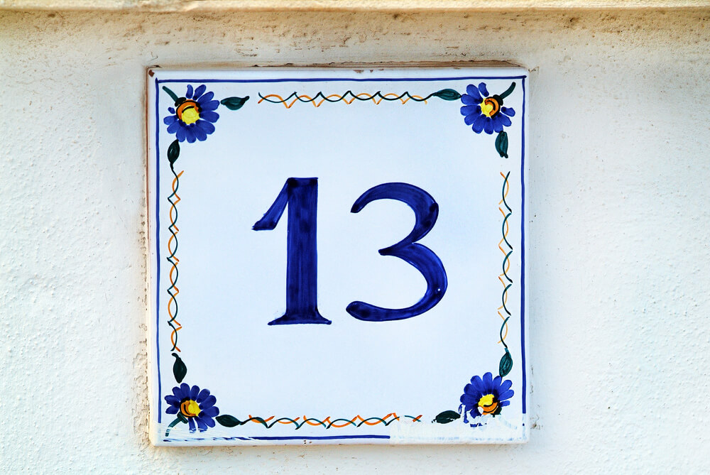 Number 13 house number