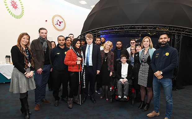 image of Universities Minister Chris Skidmore praises Brunel's disabled student experience