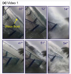 Snapshots of videos showing the inundation of the 19 March 2017 Dayyer tsunami-like waves copy