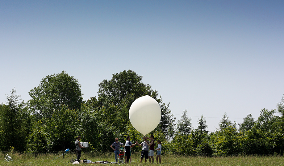 Space Balloon IN distant