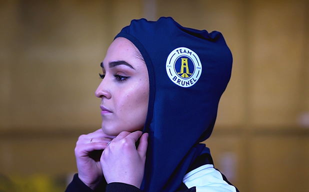 image of First UK university unveils sports hijab