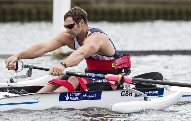 Team GB para-rower and former Brunel student Tom Aggar. Image by onEdition