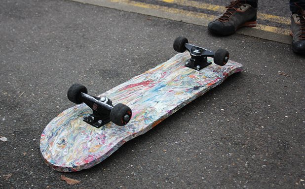 image of Made in Brunel: Student turns plastic bags into skateboards